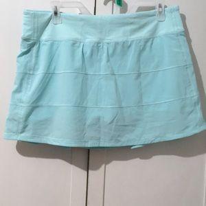 lululemon Skort Pace Rival Skirt Aquamarine Blue